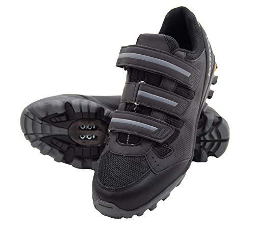 Tommaso Vertice 100 Men's All Mountain Vibram Sole Mountain Bike Shoes - 47 Black