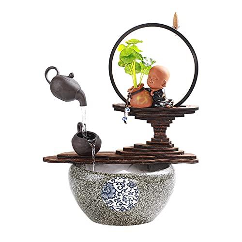 Fuente para Interiores Fuente de la mesa con la oficina de la mesa de la oficina de la oficina decoración de la decoración de los adornos de la mesa de escritorio que fluye el agua de la costa de la c