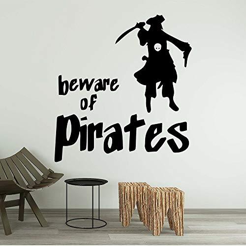 yaonuli Pirate familie vinyl decal muur sticker waterdichte muursticker huisdecoratie