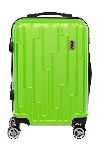 Birendy Hartschalenkoffer Handgepäck HT003 Trolley mit 4 Rollen Zahlenschloss Ausziehgriff Größe L Handgepäck (Hellgrün)