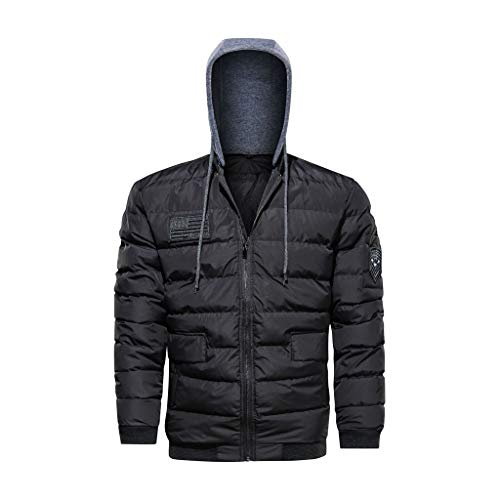 Fantastic Prices! Letdown_Men Hoodies Men Packable-Down Jackets Winter Warm Casual Detachable Cotton...