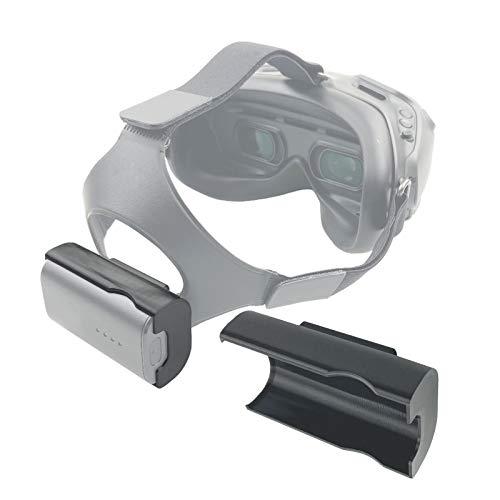 DJFEI Batterie Halterung für DJI FPV Brille V2, FPV Combo Drone Zubehör, Praktische Batterie Halterung für DJI FPV Brille V2 Zubehör