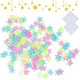 Estrellas Luminosas Pegatina, 500 Piezas Etiqueta de la pared luminosa Pegatina Pared Fluorescente...