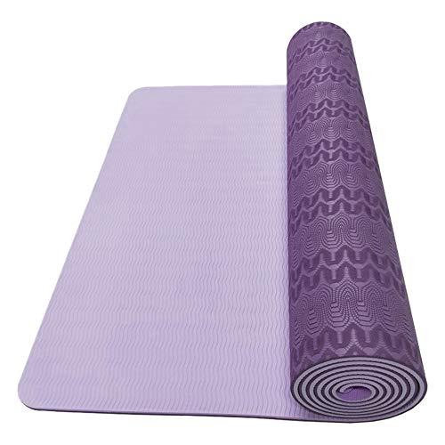 Dyyicun12 - Esterilla de ejercicio para yoga, ecológica, antideslizante, para hacer ejercicio, pilates, yoga, etc., color 1 color, tamaño Green