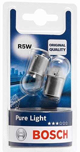 Lámparas Bosch para vehículos Pure Light R5W 12V 5W BA15s (Lámpara x2)