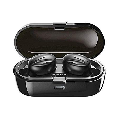 XTZJ Auriculares de Bluetooth 3 horas Tiempo de juego Earbudos inalámbricos IPX5 Auriculares a prueba de bomberos impermeables Micrófonos inteligentes Reducción de ruido Bluetooth 5.0 Deep Bass Estére