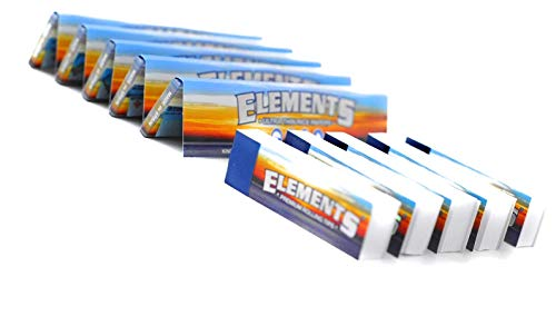 Elements 5 x KING SIZE SLIM ROLLING PAPERS + 4 PREMIUM ROACH TIPS NEW