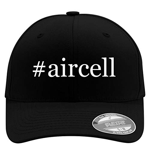 #aircell - Flexfit Adult Men's Baseball Cap Hat, Black, Large/X-Large