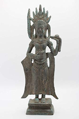 Apsara Buddha Figur aus Bronze 31cm Buddhistische Thailand Statue - AsienLifeStyle