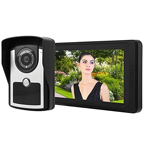 QXQX (Enchufe De La UE 7'LCD Cableado De Video Teléfono De Door Portero Intercomunicador Aplicación Remote Desbloqueo De Grabación De Video
