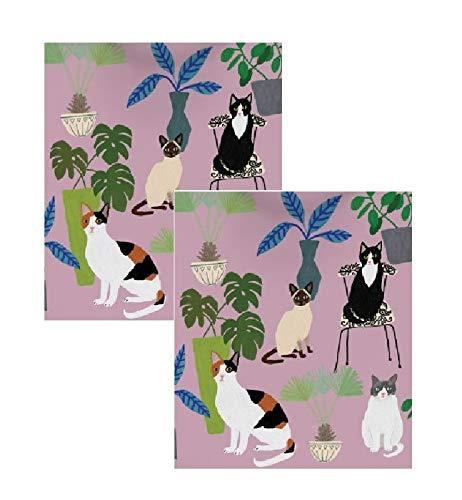 Unbekannt Roger la Borde Jazzy Designer-Geschenkpapier, Motiv Katze auf Stühlen, 2 Bögen