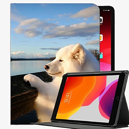 Caso en Forma de Nuevo iPad 8th Generation 10.2 '2020 / iPad 7th Gen 2019, Samoyed Dog Huzzle Funda tupida Caja Delgada Cubierta de cáscara para iPad 10.2 Pulgadas