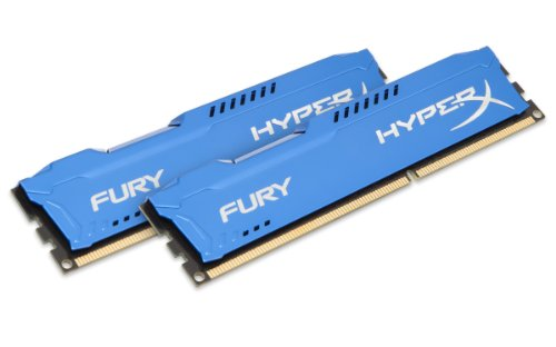 HyperX Fury - Memoria RAM de 16 GB (1600 MHz DDR3 Non-ECC CL10 DIMM, Kit 2x8 GB), Azul