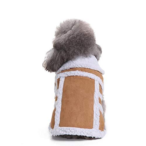 HONGB Hundebaumwollmantel, Haustierfrühlings- Und Winterkleidung, Wärme, Kaschmirjacke, Winddichte Weste, Kleine Und Mittlere Hundemiaukleidung-S