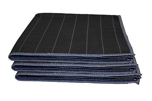 Muxel Carbon Tuch 3 STK. Glaspoliertuch Streifenfrei Fenstertuch Mikrofasertuch