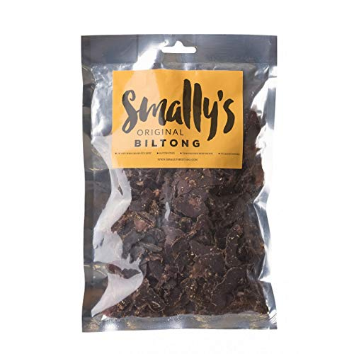 Smally's Biltong: Original, High Protein Beef Snack, Ready to Eat, Gluten Free, 250g