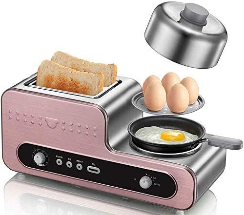 Gofrera El desayuno de la máquina a la parrilla Tostadora conductor cocido tortilla de huevo de acero inoxidable Gofrera Máquinapara Hacer
