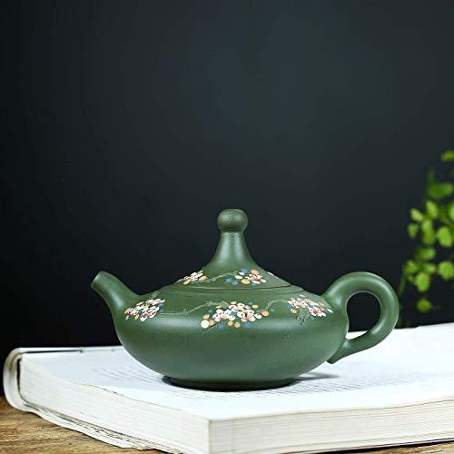 ADSE Tea Maker Pot Teapot Tea Cup Green Clay Teapot Teapot Good Fortune Vintage Unique Oriental Design (Color : Raw ore Green mud, Size : One Size)