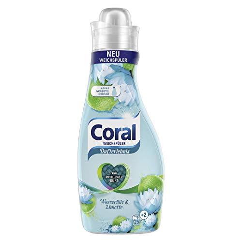 Coral Dufterlebnis Weichspüler Wasserlilie und Limette (für frische Wäsche mit langanhaltendem Wäscheduft 25 + 2 WL), 1 Stück ( 1 x 675 ml)