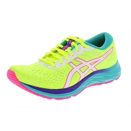 ASICS Women's Gel-Excite 7 Running Shoes, 9.5M, Safety Yellow/White