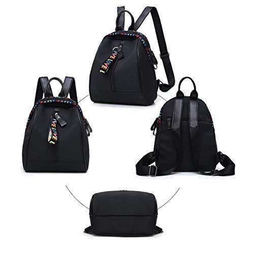 amilses Frauen-Mädchen-Rucksack-beiläufiger Patchwork-Quasten-Reißverschluss-große Kapazitäts-Tasche Daypacks