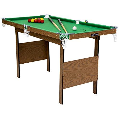 Charles Bentley Snooker-Billardtisch Indoor - Snookerkugeln & gelbe Poolbillard-Kugeln - 1,2 m