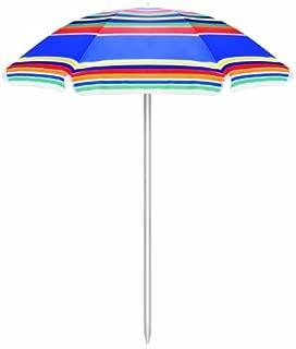 ONIVA - a Picnic Time Brand Outdoor Sunshade Umbrella, Multi-Color Stripe