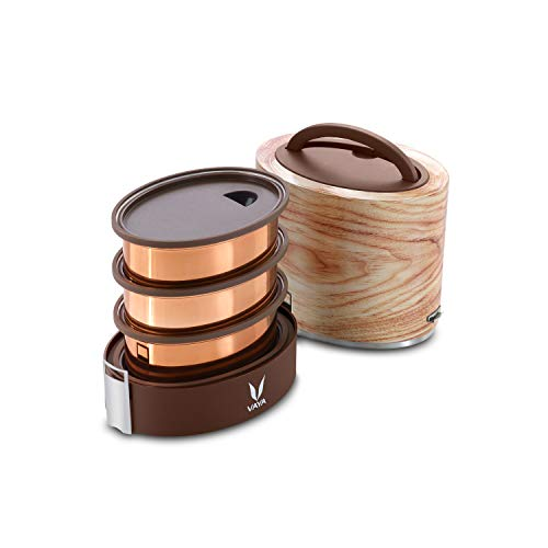 Vaya Tyffyn CopperFinished Stainless Steel Lunch Box Withou