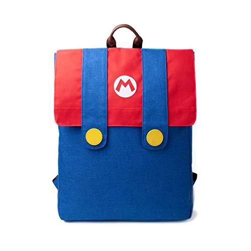 DIFUZED Sac à DOS Mario Kinder-Rucksack, 42 cm, Mehrfarbig (Bleu Et Rouge)