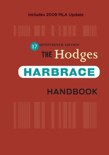 The Hodges Harbrace Handbook, 2009 MLA Update Edition...