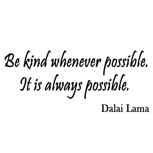 VWAQ Be Kind Whenever Possible It is Always Possible Dalai Lama Wall Decals Buddha Quotes Buddhism