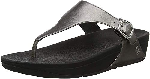 FitFlop Women's The Skinny Flip Flop, Pewter, 10 M US