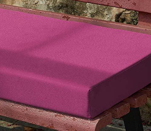 Yoole EU - Cuscino per panca da giardino, impermeabile, 100/120 x 50 cm, 2/3 posti, per dondolo, per mobili da esterni, 160 x 30 x 5 cm, colore: viola