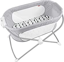 Fisher-Price, Soothing View Bassinet – Climbing Leaves Folding Portable Baby Cradle for Newborns and Infants