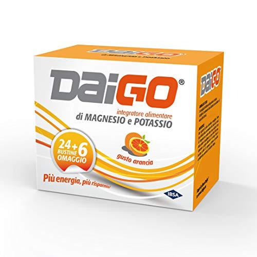 IBSA Daigo Enerday - Suplemento alimenticio de sales minerales con magnesio, creatina, L-arginina y vitamina C, fórmula intensiva, sabor cítrico sin lactosa y sin gluten.