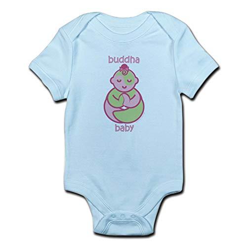 CafePress Happy Buddha Baby Girl : Pink & Green Infant Bodys Cute Infant Bodysuit Baby Romper