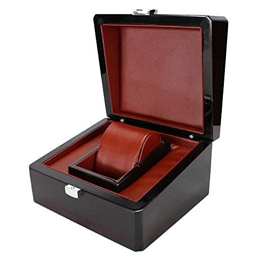 QMWY horloge doos, horloge vitrine hoogwaardige heldere verf houten doos op maat gemaakte sieraden collectie goud bar gouden doos hardcover merknaam horloge doos
