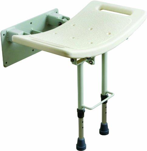 Drive Medical SWALL002 - Asiento para ducha con patas (fijación a pared), color blanco
