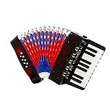 Akkordeon - Kinder Akkordeon Spielzeug   17 Tasten 8 Bass Knopf Akkordeon   Ziehharmonika Solo Und...