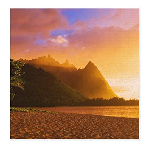 Alfombrillas de secado de platos para cocina, Golden Beach Sunset, Hawaii de microfibra ultra absorbente, escurridor de platos para encimera, resistente al calor, 71 x 71 cm