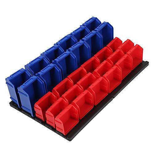 Ejoyous Bin Ra, 18 Piezas de contenedores Rojos Organizador de contenedores de Piezas Resistente con Uso Aislado para Mantener un Entorno Limpio en el Garaje para el Taller