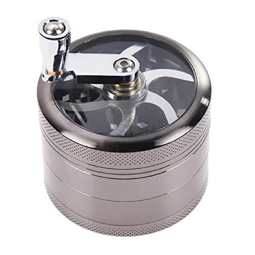 ahumador Manual de Metal de 4 Capas, Mango de aleación de Zinc de 55 mm, Amoladora de Tabaco, Fabricante de Cigarrillos