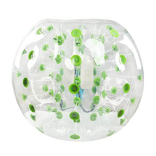 Triclicks 1,2M/ 1,5M Aufblasbar Bumper Bubble Bälle Ball 0,8 mm PVC Zorb Fußball Soccer Balls für Erwachsene und Jugendliche und Kinder (Grün, 1,5m)