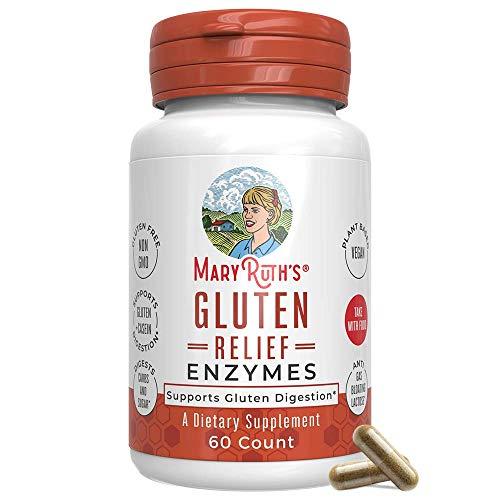 Gluten Enzyme by MaryRuth's - Digest Gluten and Casein - Supports Healthy Digestion and Nutrient Absorption - Gluten Blocker - Vegan - 60 Count