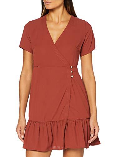 Only ONLALICE 3/4 DRESSWVN Vestido, Burnt Henna, 40(tamaño del Fabricante: 38) para Mujer