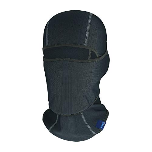 SUNMECI Warm Fleece Balaclava Cold Weather Head Hood Face Cover Better with Helmet for Motorcycling, Skiing Grey