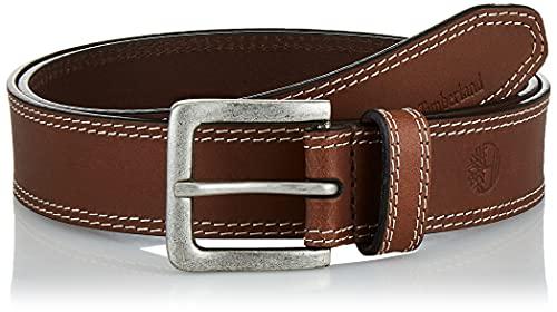 Timberland - Cintura in pelle da uomo, 35 mm Marrone scuro 50