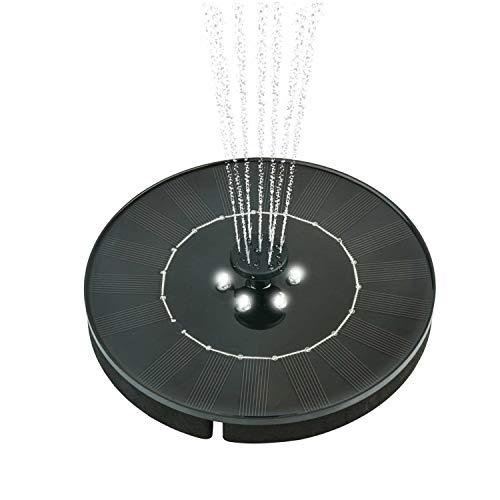 OCGIG 150L/h Solarbetriebener Brunnen Wasserpumpe Nacht Schwimmendes Vogelbad für Garten, Terrasse, Teich und Pool