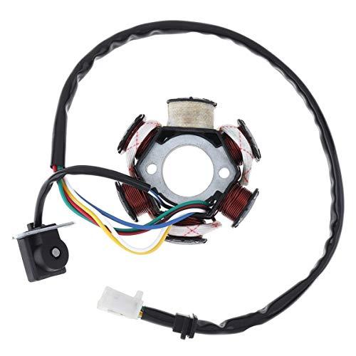 XIXI-Home Vespa generador 6 bobinas del estator Magneto en Forma for 125cc y 150cc GY6 Motor Chino ATV/Go Karts/ciclomotores