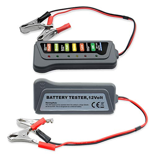 Affordable 12V Digital with 6 LED Lights Display Battery Testers Alternator circuit tester Car Vehic...